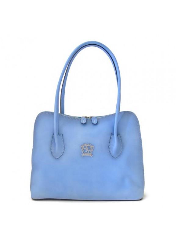 Pratesi Shoulder Bag Talla in cow leather - Bruce Sky Blue