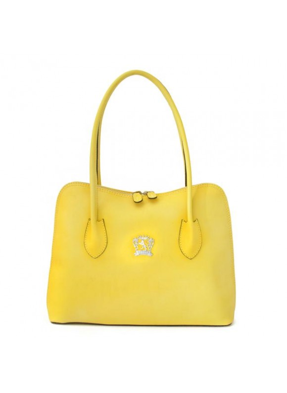 Pratesi Shoulder Bag Talla in cow leather - Bruce Yellow