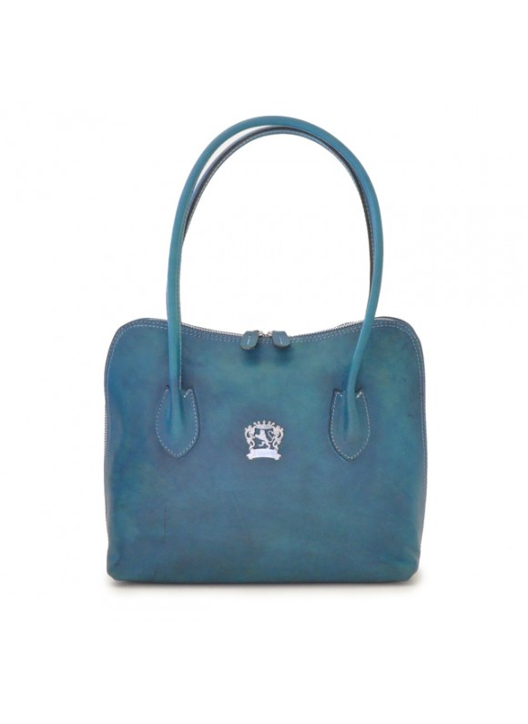 Pratesi Shoulder Bag Talla in cow leather - Bruce Blue