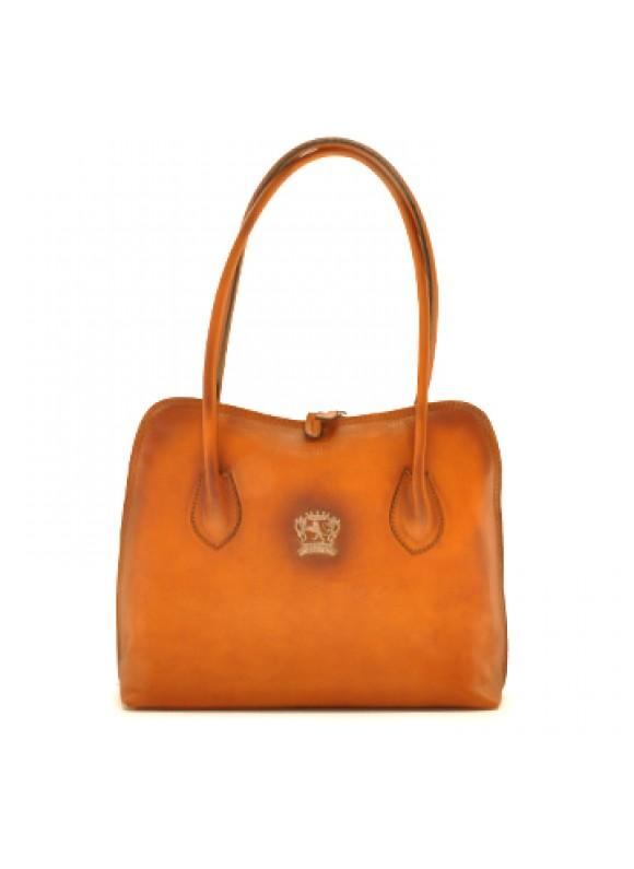 Pratesi Shoulder Bag Talla in cow leather - Bruce Cognac
