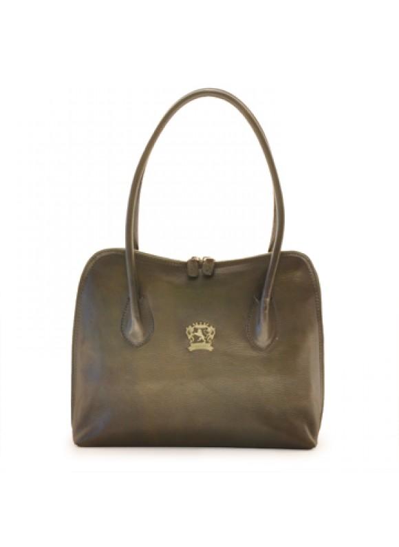 Pratesi Shoulder Bag Talla in cow leather - Bruce Dark Green