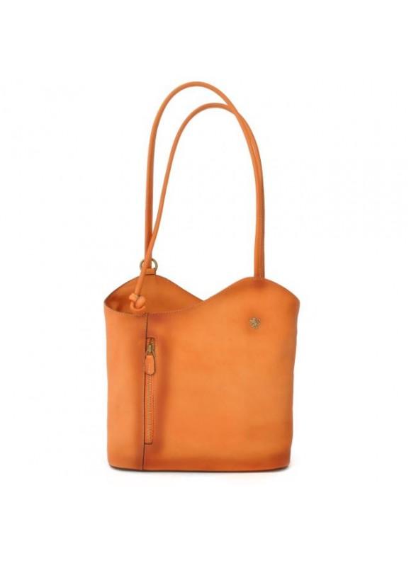 Pratesi Consuma Shoulder Bag in cow leather - Bruce Orange