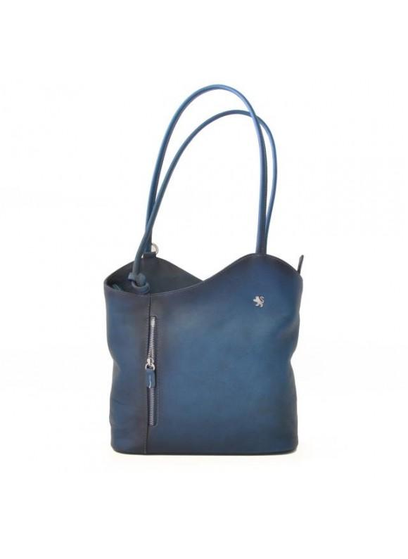 Pratesi Consuma Shoulder Bag in cow leather - Bruce Blue