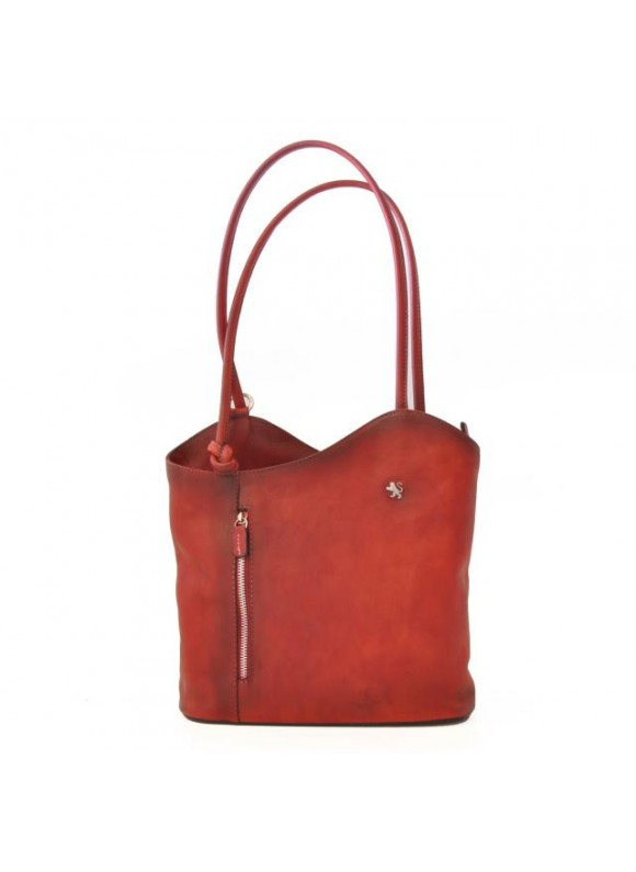 Pratesi Consuma Shoulder Bag in cow leather - Bruce Cherry