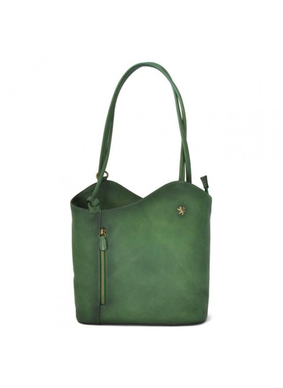 Pratesi Consuma Shoulder Bag in cow leather - Bruce Emerald
