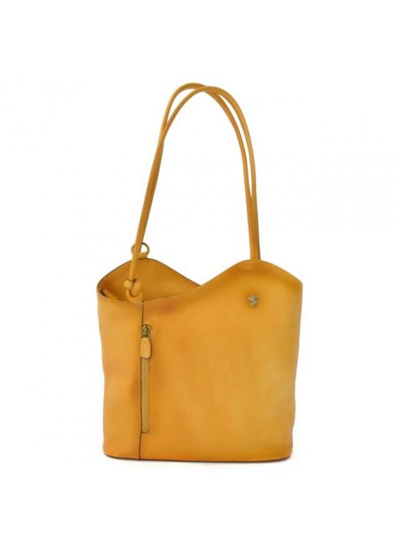Pratesi Consuma Shoulder Bag in cow leather - Bruce Yellow