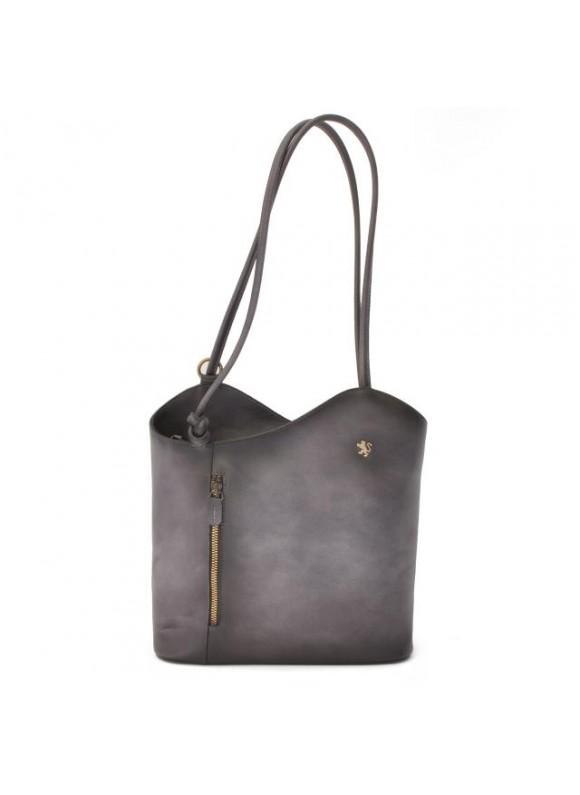 Pratesi Consuma Shoulder Bag in cow leather - Bruce Grey