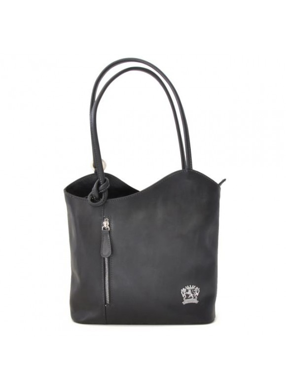 Pratesi Consuma Shoulder Bag in cow leather - Bruce Black