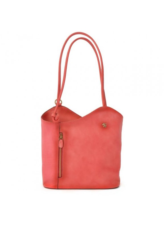 Pratesi Consuma Shoulder Bag in cow leather - Bruce Pink