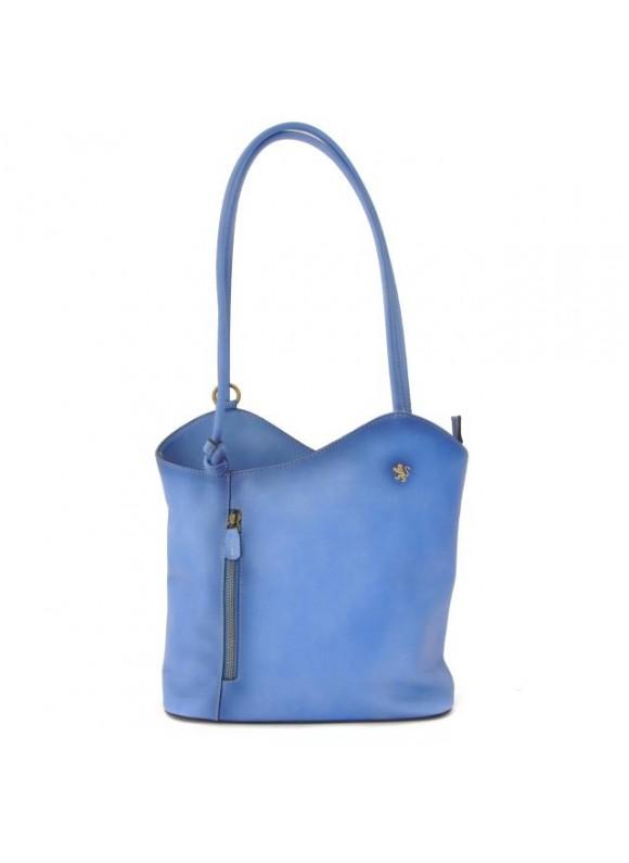 Pratesi Consuma Shoulder Bag in cow leather - Bruce Sky Blue