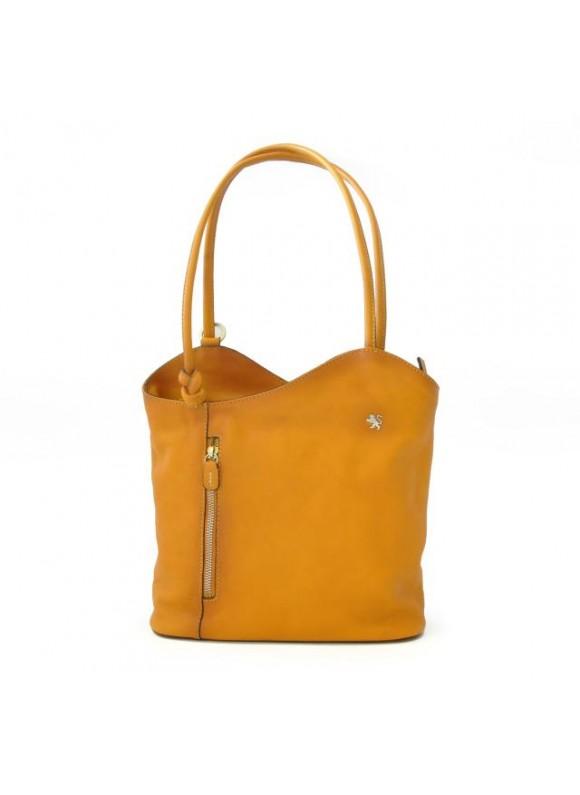Pratesi Consuma Shoulder Bag in cow leather - Bruce Mustard