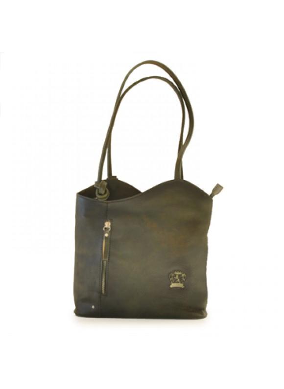 Pratesi Consuma Shoulder Bag in cow leather - Bruce Dark Green