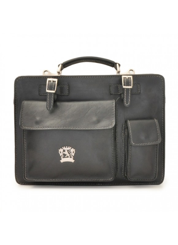 Pratesi Business Bag Milano Medium in cow leather - Bruce Black