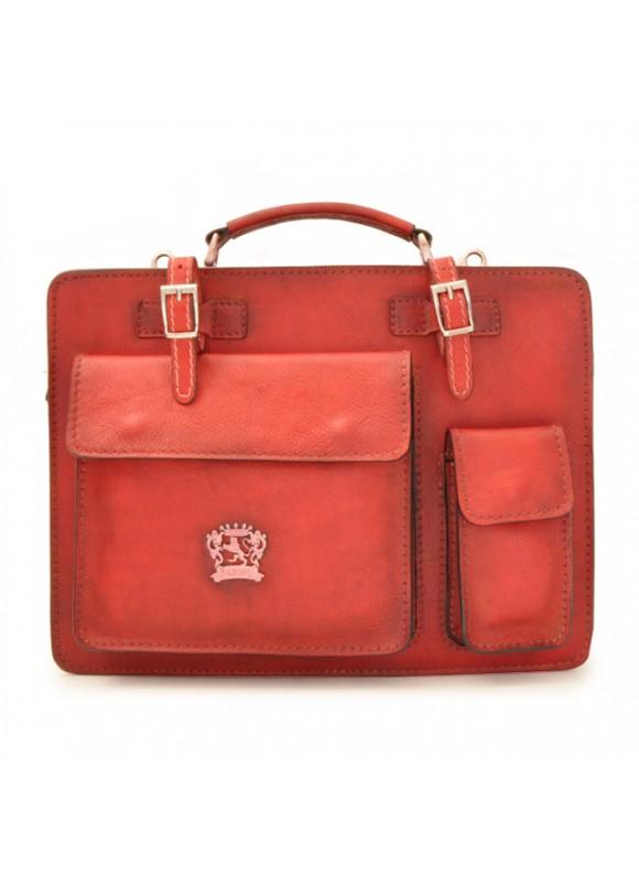 Pratesi Business Bag Milano Medium in cow leather - Bruce Cherry