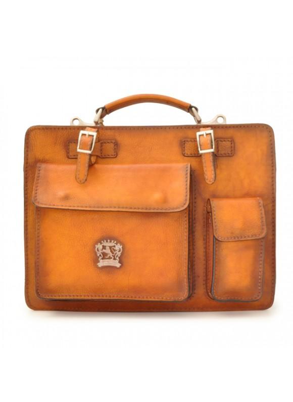 Pratesi Business Bag Milano Medium in cow leather - Bruce Cognac