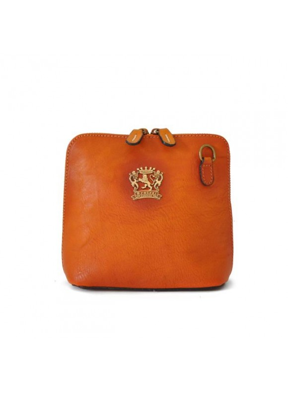 Pratesi Cross-Body Bag Volterra Bruce in cow leather - Bruce Orange
