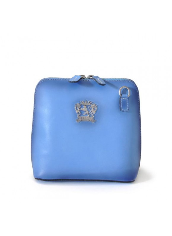 Pratesi Cross-Body Bag Volterra Bruce in cow leather - Bruce Sky Blue