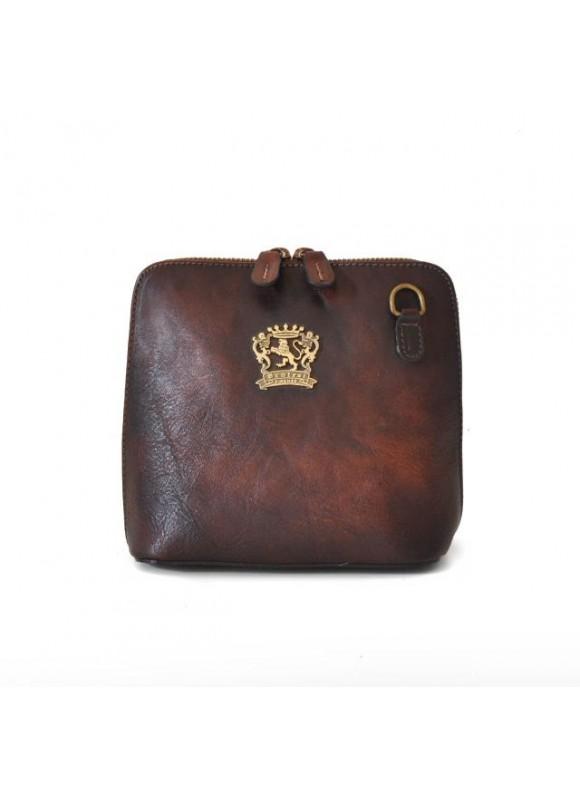 Pratesi Cross-Body Bag Volterra Bruce in cow leather - Bruce Coffee