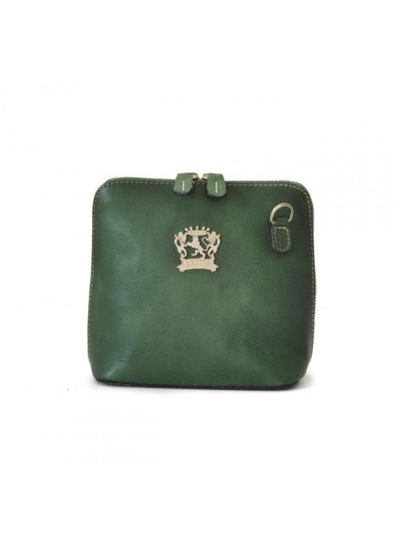 Pratesi Cross-Body Bag Volterra Bruce in cow leather - Bruce Emerald