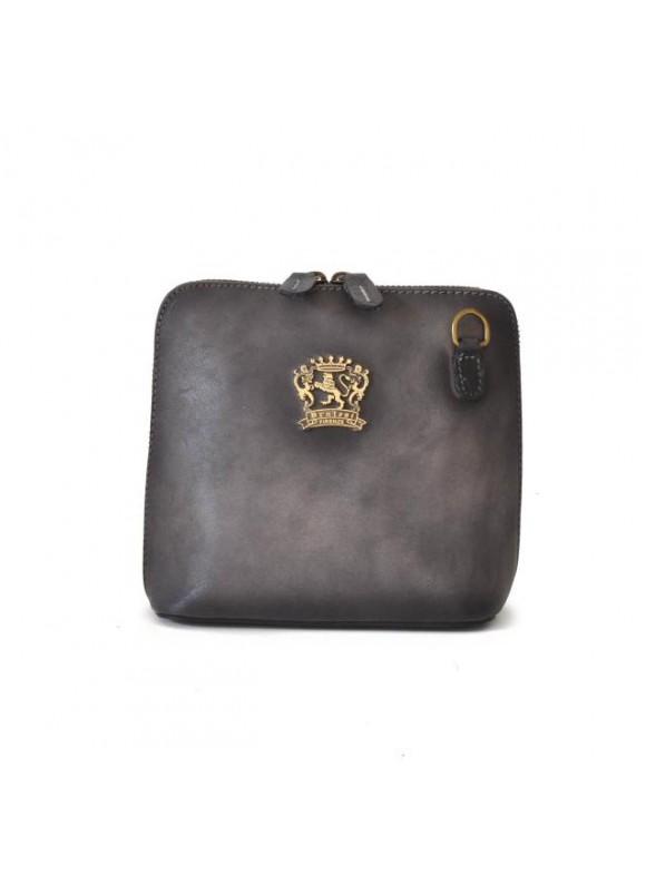 Pratesi Cross-Body Bag Volterra Bruce in cow leather - Bruce Grey
