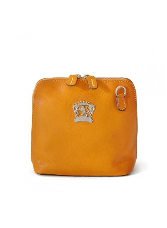 Pratesi Cross-Body Bag Volterra Bruce in cow leather - Bruce Mustard