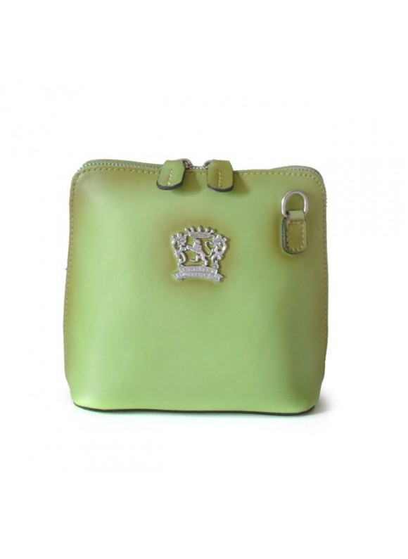 Pratesi Cross-Body Bag Volterra Bruce in cow leather - Radica Green