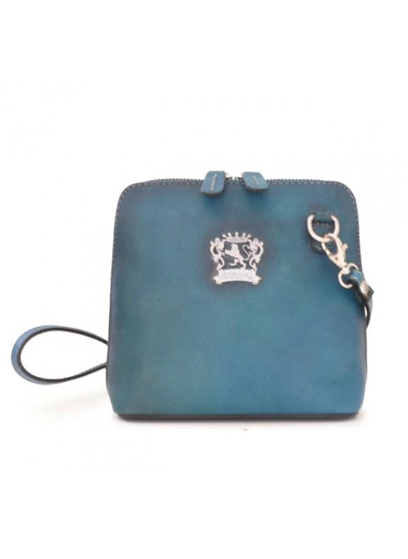 Pratesi Cross-Body Bag Volterra Bruce in cow leather - Bruce Blue