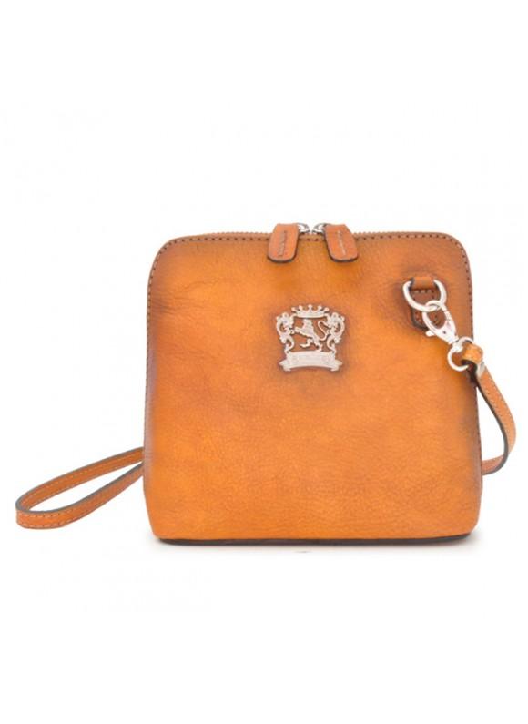 Pratesi Cross-Body Bag Volterra Bruce in cow leather - Bruce Cognac