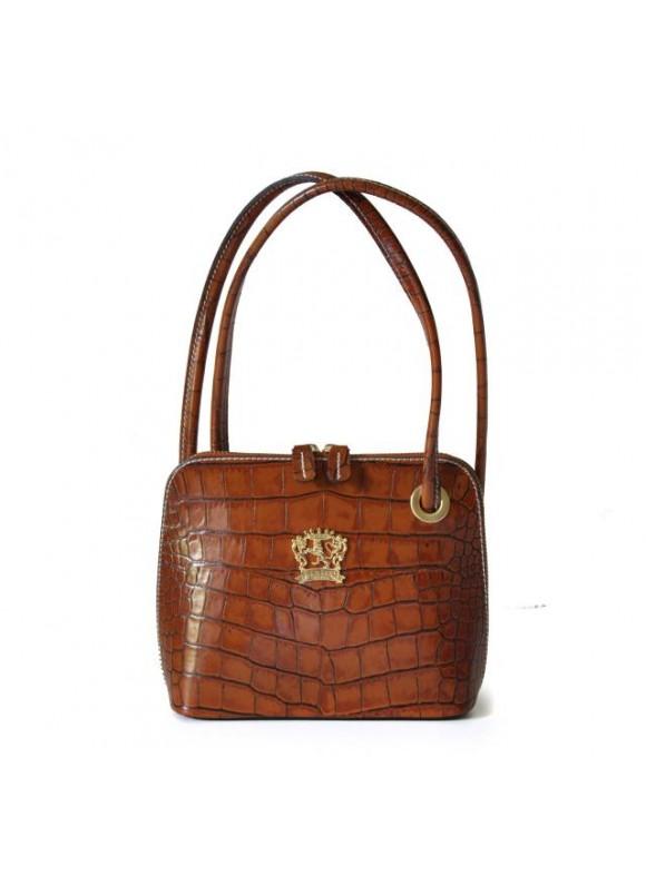 Pratesi Roccastrada King Woman Bag in cow leather - King Cognac
