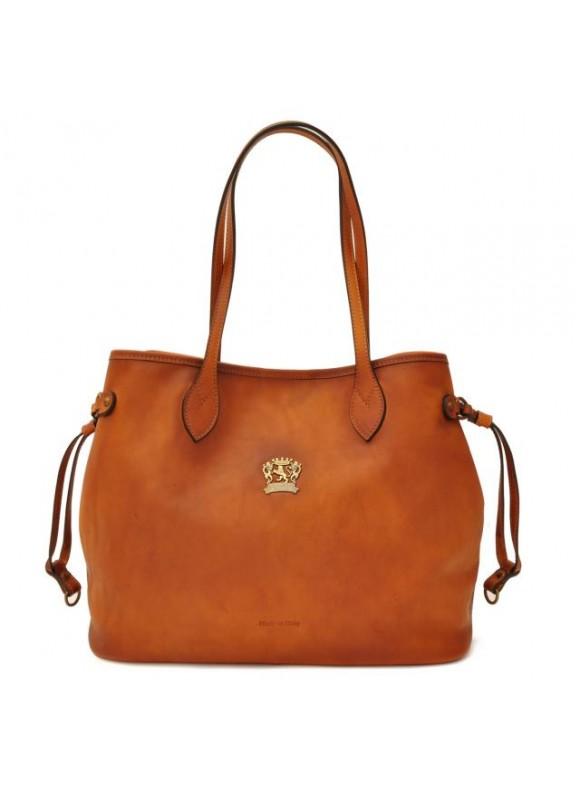 Pratesi Vetulonia Shoulder Bag in cow leather - Bruce Cognac