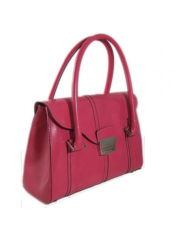 Pratesi Pinturicchio Small Shoulder Bag in cow leather - Radica Pink