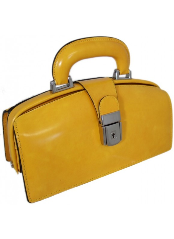 Pratesi Lady Brunelleschi Bag in cow leather - Radica Yellow