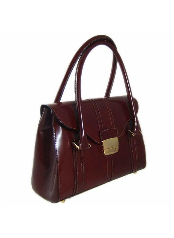 Pratesi Pinturicchio Small Shoulder Bag in cow leather - Radica Chianti