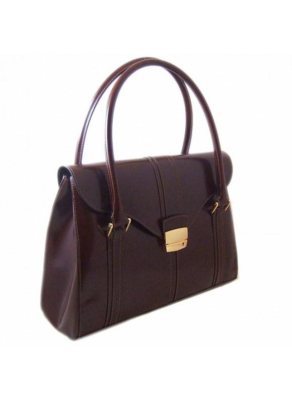 Pratesi Pinturicchio Shoulder Bag in cow leather - Radica Coffee