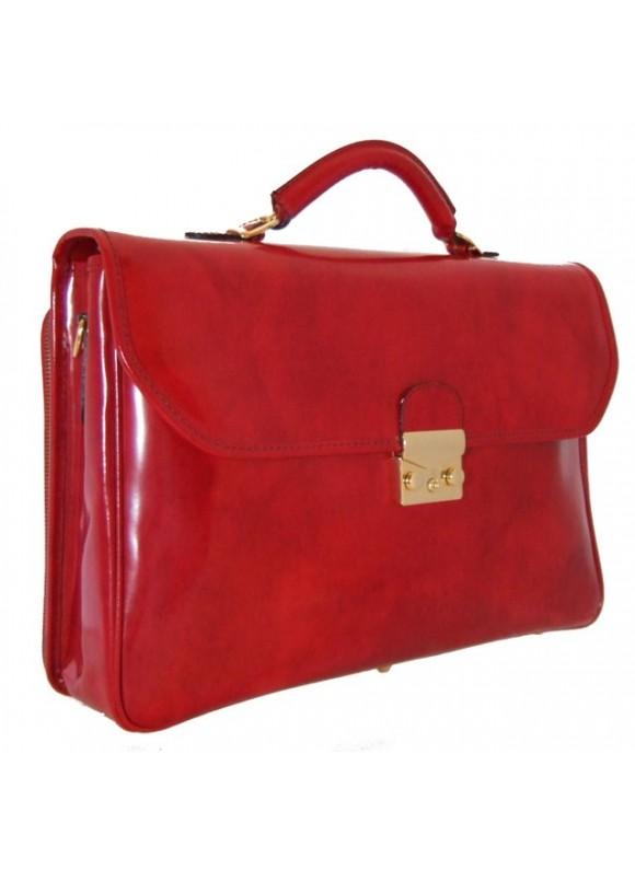 Pratesi Piccolomini Briefcase in cow leather - Radica Cherry