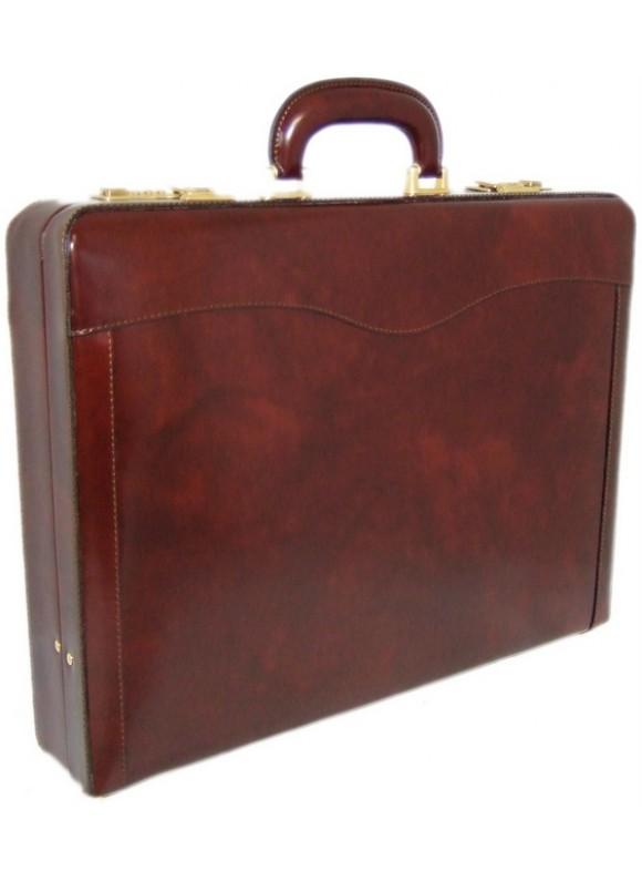 Pratesi Federico da Montefeltro Attach Case 24h in cow leather - Radica Coffee