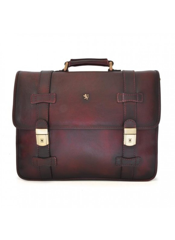 Pratesi Briefcase Vallombrosa in cow leather - Bruce Chianti