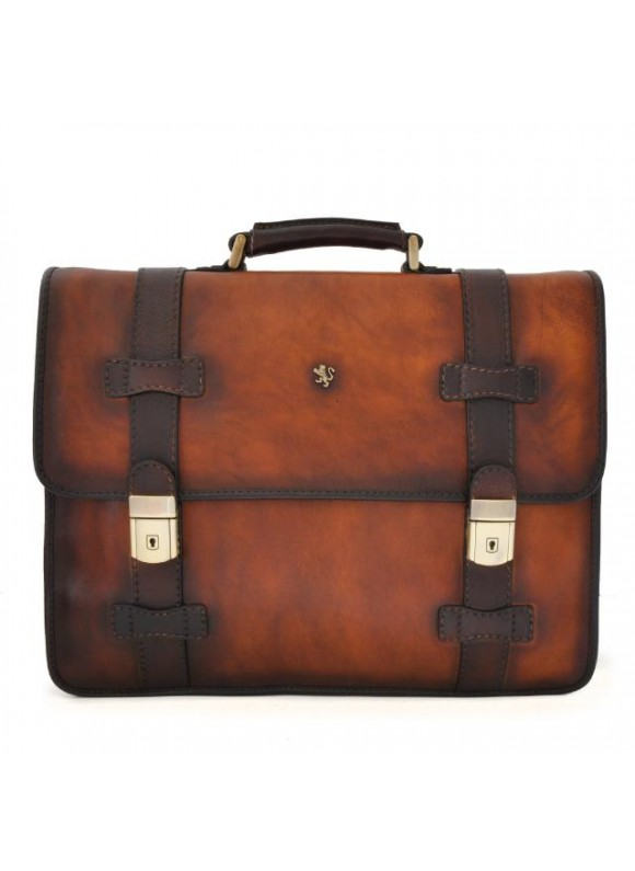 Pratesi Briefcase Vallombrosa in cow leather - Bruce Brown