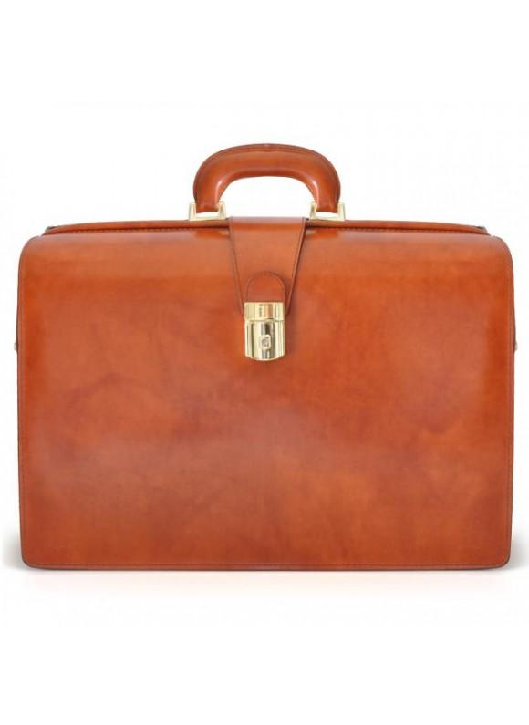 Pratesi Leonardo Briefcase in cow leather - Radica Brown
