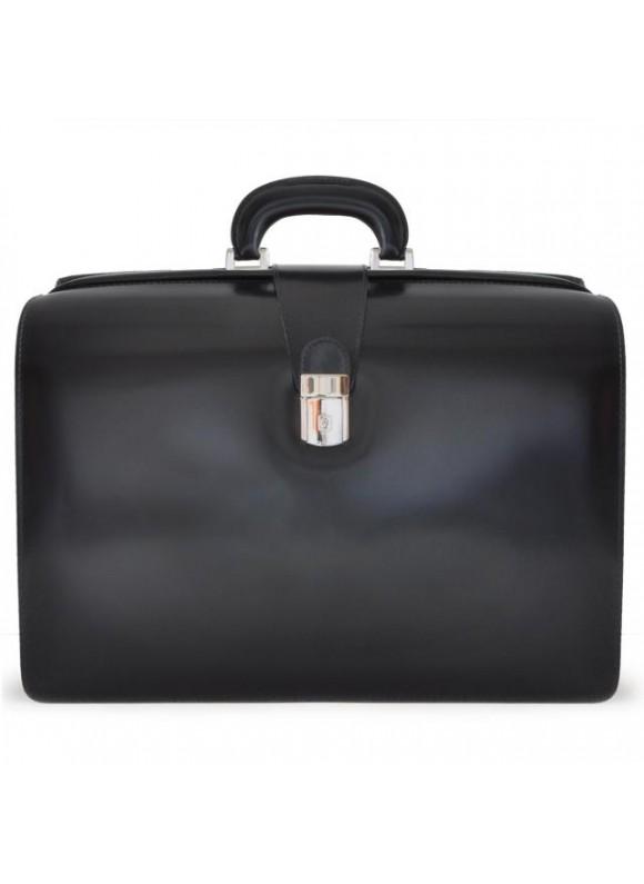 Pratesi Leonardo Briefcase in cow leather - Radica Black