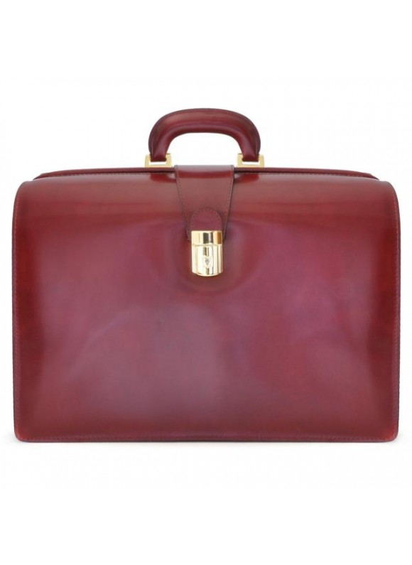 Pratesi Leonardo Briefcase in cow leather - Radica Chianti
