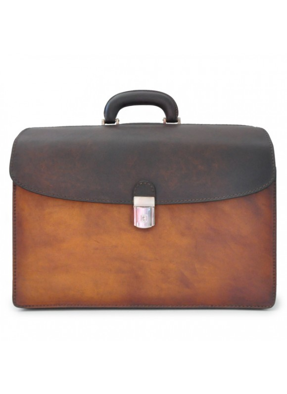 Pratesi Briefcase Leonardo in cow leather - Bruce Brown