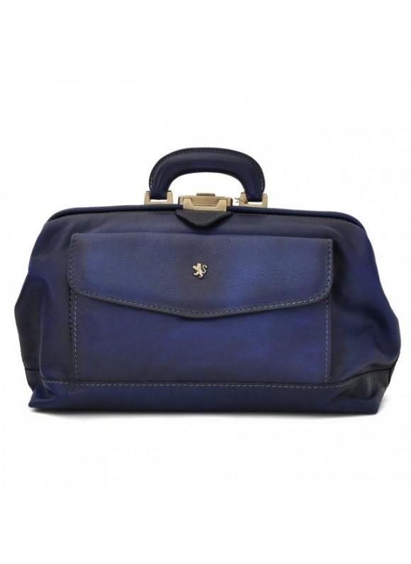 Pratesi Doctor Bag in cow leather - Bruce Blue