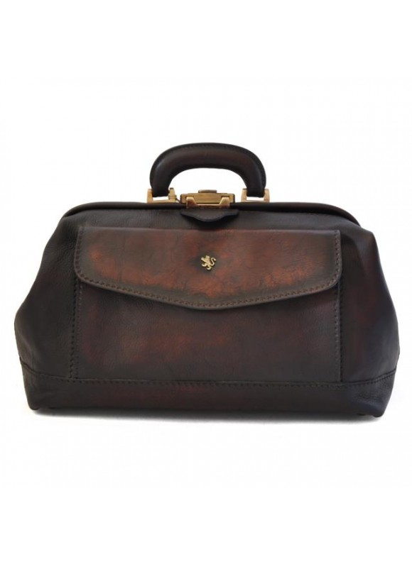 Pratesi Doctor Bag in cow leather - Bruce Coffee