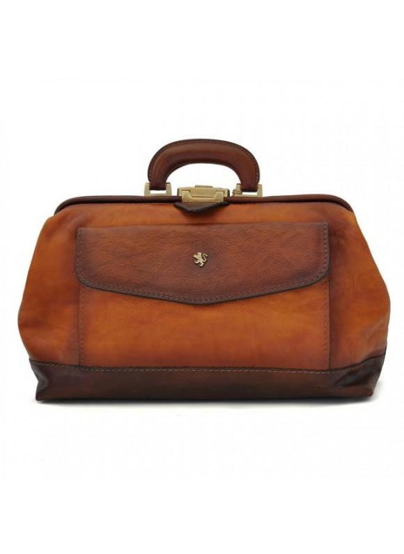 Pratesi Doctor Bag in cow leather - Bruce Cognac
