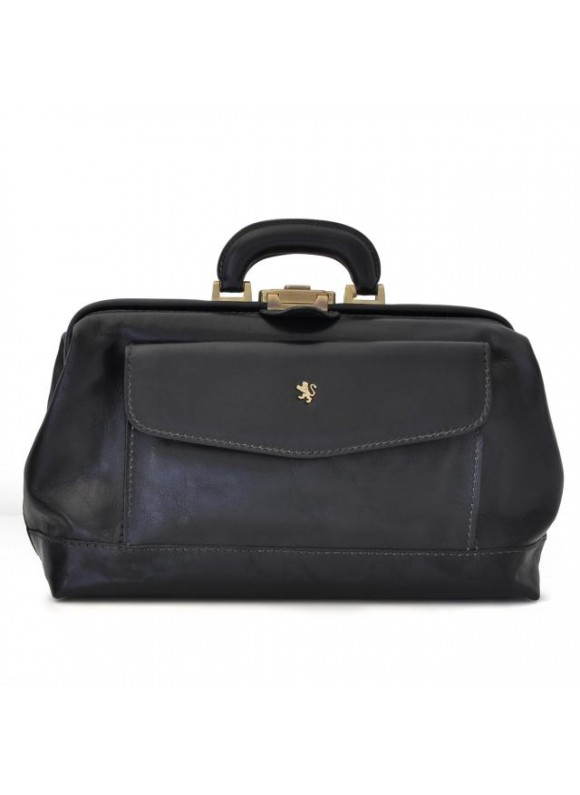Pratesi Doctor Bag in cow leather - Bruce Black