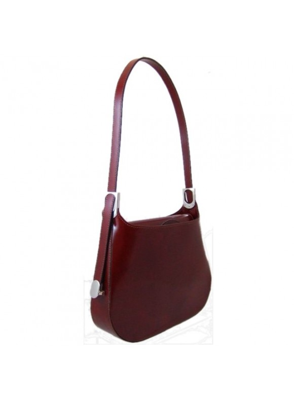 Pratesi Tintoretto Shoulder Bag in cow leather - Radica Chianti