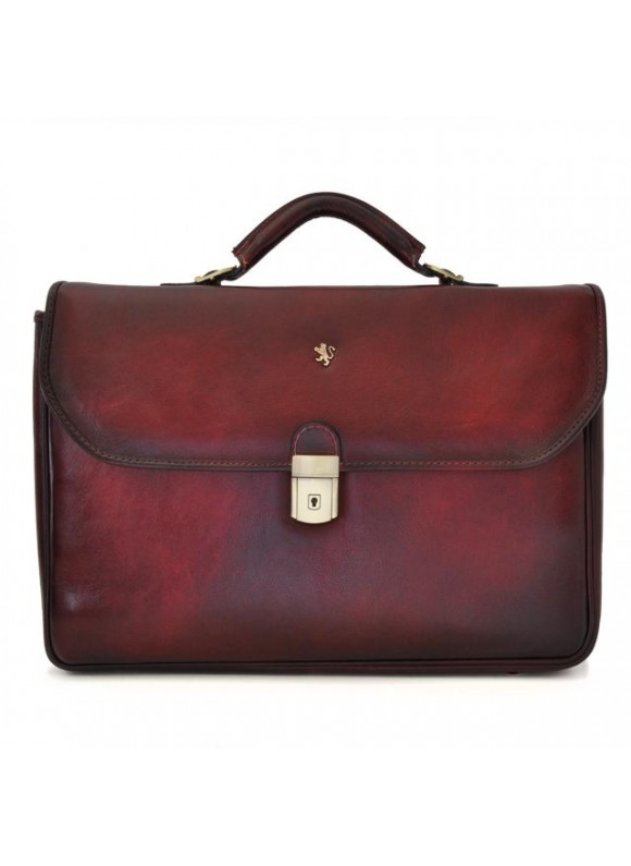 Pratesi Briefcase Piccolomini in cow leather - Bruce Chianti