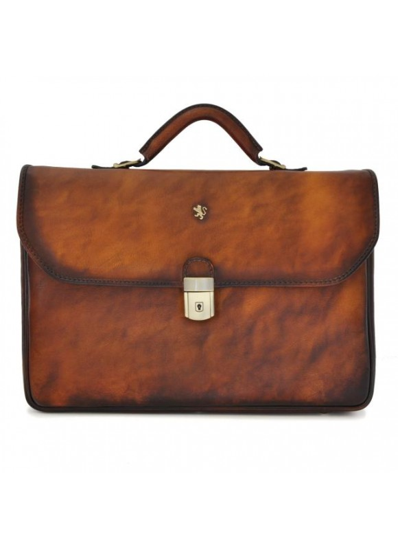 Pratesi Briefcase Piccolomini in cow leather - Bruce Brown