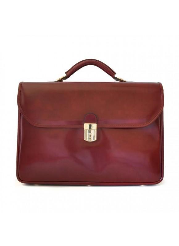 Pratesi Piccolomini Briefcase in cow leather - Radica Chianti